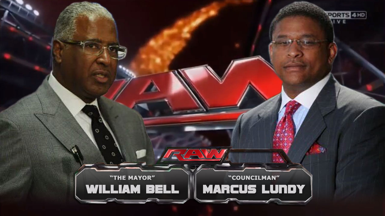 The Mayor, William Bell vs Councilman, Marcus Lundy Tonight on RAW! main blog post image